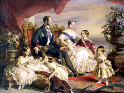 Canvas print  Queen Victoria and Prince Albert with Five of the Their Children - Franz Xaver Winterhalter