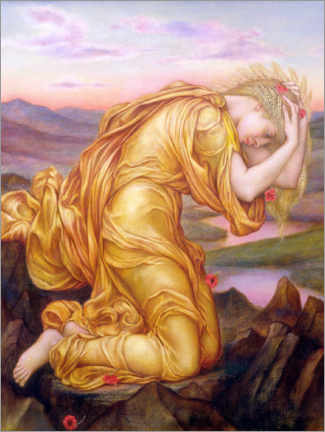 Gallery print  Demeter mourns Persephone - Evelyn De Morgan