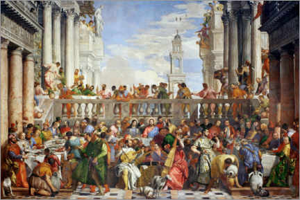 Acrylic print  Wedding party in Cana - Paolo Caliari (Veronese)