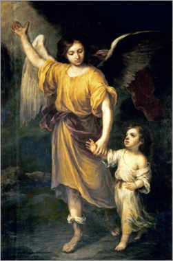Gallery print  Guardian Angel - Bartolome Esteban Murillo