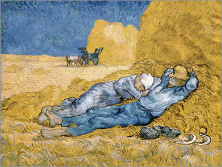 Foam board print  The siesta - Vincent van Gogh