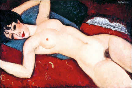Premium poster  Sleeping Nude - Amedeo Modigliani