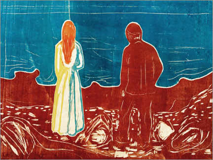 Aluminium print  Two Human Beings. The Lonely Ones - Edvard Munch