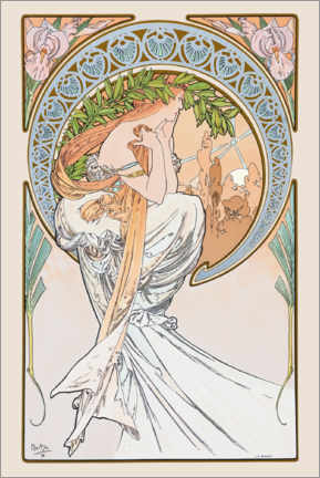 Canvas print  The Arts - Poetry - Alfons Mucha