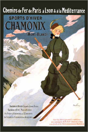 Acrylic print  Sports D'Hiver Chamonix (French) - Travel Collection