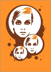 Wall sticker  Twiggy Mathmos Orange - JASMIN!