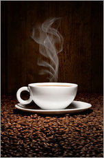 Wall sticker  Coffee cup bean aroma - pixelliebe