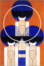 Wall sticker  Plakat, 1902 - Detail - Koloman Moser