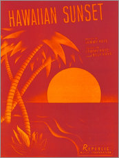 Wall sticker  Hawaiian sunset - Entertainment Collection