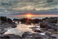 Gallery print  Sunset on the sea in Bajamar in Tenerife - Michael Valjak