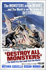 Gallery print  Destroy All Monsters - Entertainment Collection