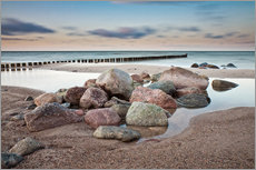 Wall sticker  Stones and groynes on shore of the Baltic Sea. - Rico Ködder