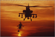Gallery print  AH-64 Apache anti-tank helicopters
