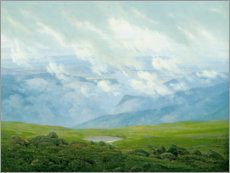 Premium poster  Drifting Clouds - Caspar David Friedrich