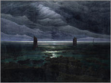 Wall Stickers  Sea Shore in Moonlight - Caspar David Friedrich