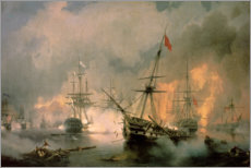 Foam board print  The Battle of Navarino - Ivan Konstantinovich Aivazovsky