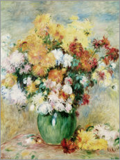 Canvas print  Bouquet of Chrysanthemums - Pierre-Auguste Renoir