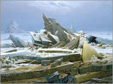 Wall Stickers  The Polar Sea - Caspar David Friedrich