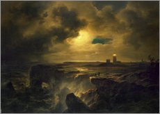 Gallery print  Helgoland in the moonlight - Christian Ernst Bernhard Morgenstern