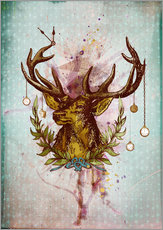 Wall sticker  Oh Deer, is that the time? - Sybille Sterk