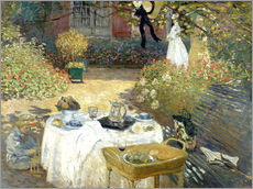Wall Stickers  The Luncheon: Monet's garden at Argenteuil - Claude Monet