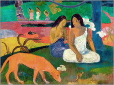 Wood print  Arearea - Paul Gauguin