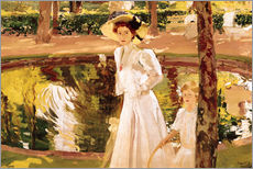 Wall sticker  The Garden - Joaquín Sorolla y Bastida