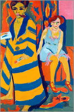 Wall sticker  Self Portrait with a Model - Ernst Ludwig Kirchner