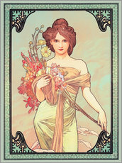 Gallery print  Spring brunette - Alfons Mucha