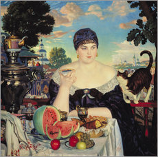 Wall sticker  The Merchant's Wife at Tea - Boris Mihajlovic Kustodiev