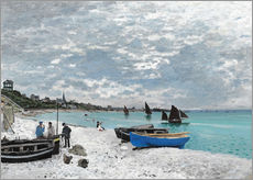 Gallery print  The Beach at Sainte-Adresse - Claude Monet