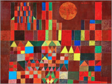 Wood print  Castle and Sun - Paul Klee