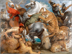 Wall Stickers  The Tiger Hunt - Peter Paul Rubens