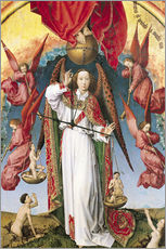 Gallery print  Last Judgment, St. Michael, Weighing Souls - Rogier van der Weyden