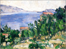 Wall sticker  View of Mount Marseilleveyre and the Isle of Maire - Paul Cézanne