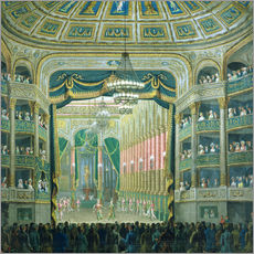 Gallery print  View of the Parisian opera stage - French School