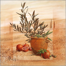 Gallery Print  Pomegranate and olive harvest - Franz Heigl