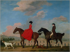 Wall sticker  John and Sophia Musters riding at Colwick Hall - George Stubbs