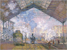 Gallery print  The Gare St. Lazare - Claude Monet
