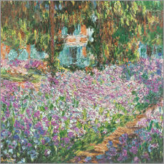 Wall sticker  The Artist's Garden at Giverny - Claude Monet
