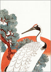 Gallery print  First Sunrise of the New Year With a Crane in a Pine Tree - Utagawa Hiroshige