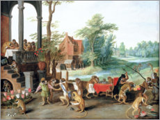 Wall sticker  A Satire of the Folly of Tulip Mania - Jan Brueghel d.Ä.