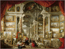 Wall Stickers  Gallery with Views of Modern Rome - Giovanni Paolo Pannini