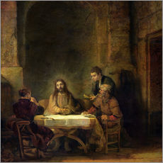 Wall sticker  The Supper at Emmaus - Rembrandt van Rijn