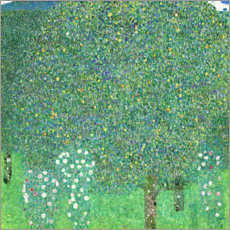 Canvas print  Roses under trees - Gustav Klimt