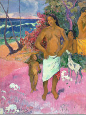 Canvas print  A Walk by the Sea - Paul Gauguin