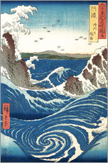 Wall sticker  View of the Naruto whirlpools, Awa - Utagawa Hiroshige