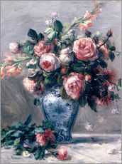 Wall sticker  Vase of Roses - Pierre-Auguste Renoir