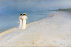 Wall sticker  Summer Evening on the Skagen Southern Beach with Anna Ancher and Marie Kroyer - Peder Severin Krøyer