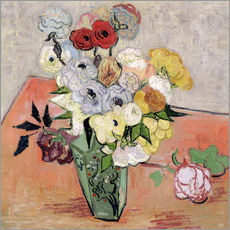 Gallery Print  Roses and Anemones - Vincent van Gogh